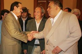 """Rubén """"La Chancha"""" Alé años atrás junto al entonces gobernador de Tucumán José Alperovich"""
