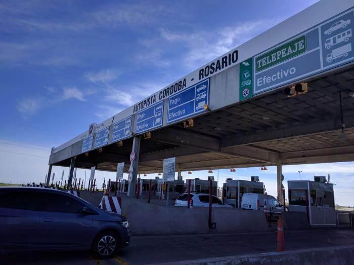 Peaje autopista Rosario Córdoba