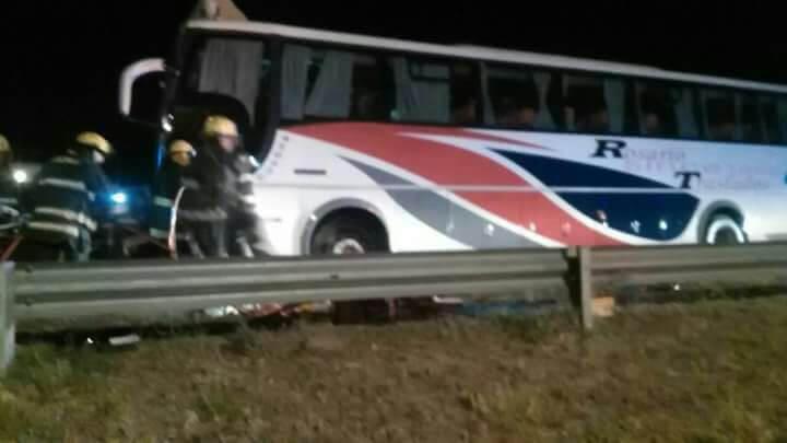 Chocó el camion que transportaba a Gimnasia y Esgrima de Rosario