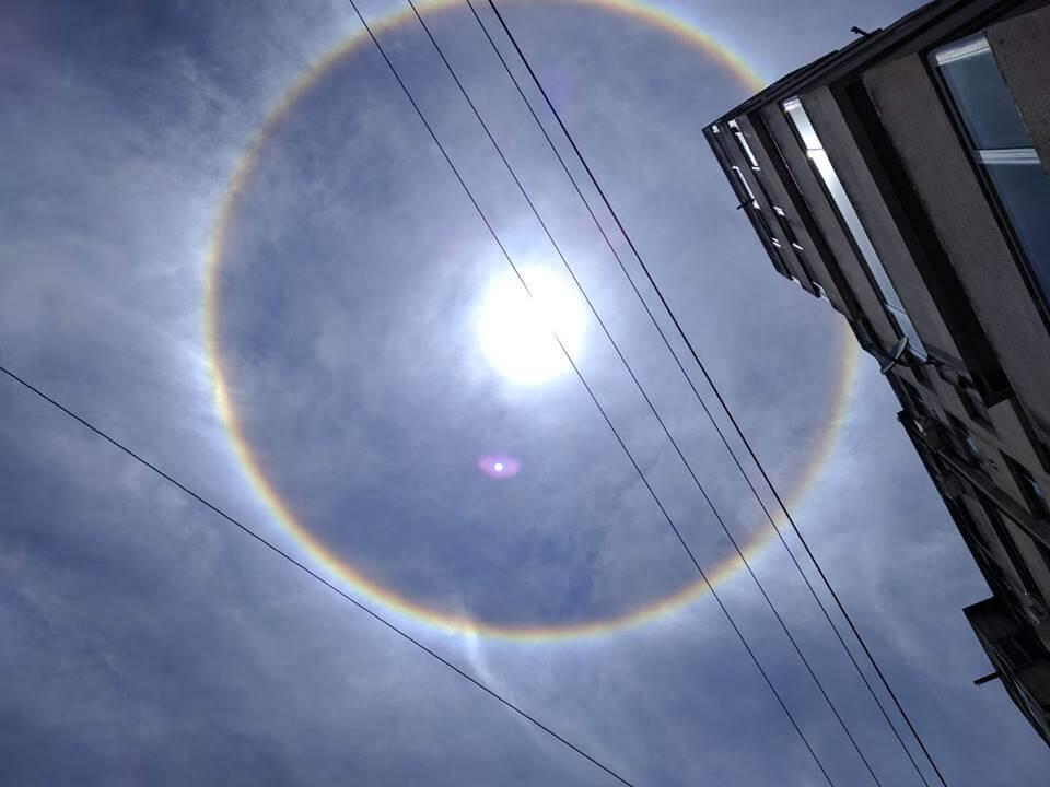 Sol con Halo en Cañada de Gómez