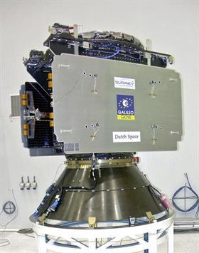 Un satélite de Galileo, el sistema de geolocalización por satélite de Europa