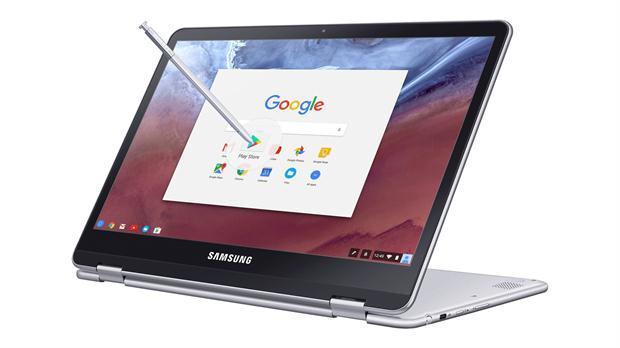 Las Samsung Chromebook Pro y Plus tienen pantallas táctiles de 12,3 pulgadas (2400 x 1600 pixeles), 4 GB de RAM, dos puertos USB-C y 1,1 kg de peso, además de 8 horas de autonomía; la diferencia entre los dos modelos es el procesador (un chip ARM en un caso, un Intel Core M3 en el otro) y el precio: