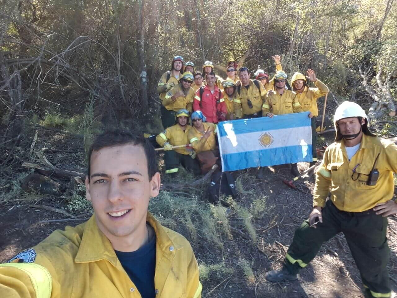 Bomberos de Las Parejas en Chile