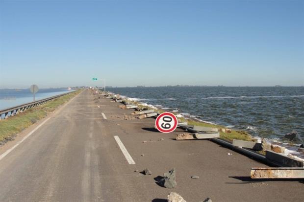 La ruta muestra un deterioro en su tramo donde está cortada