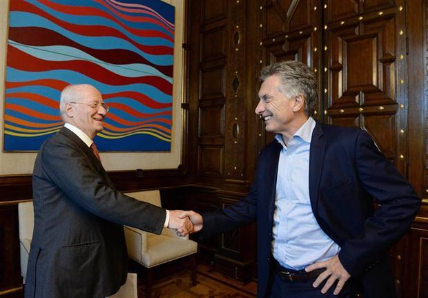 Paolo Rocca le anunció ayer la inversión al presidente Macri