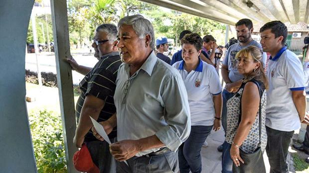 Salvador Lugo, ayer, al leer el comunicado de su designación