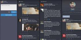La interfaz de la red social hacer recordar a la aplicación TweetDeck