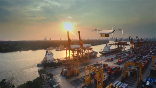 En la idea de Airbus está usar drones para evitar que los barcos tengan que atracar para descargar lo que transportan