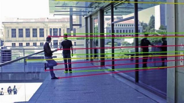 Marcar la trayectoria de los reflejos de una imagen puede facilitar reconocerla como verdadera o falsa, si las líneas no encajan