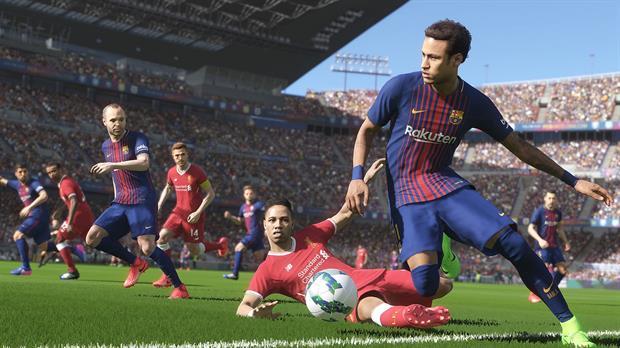 Neymar Jr con la camiseta del Barcelona, una imagen que por ahora sólo se verá en el PES 2018 tras su partida al PSG