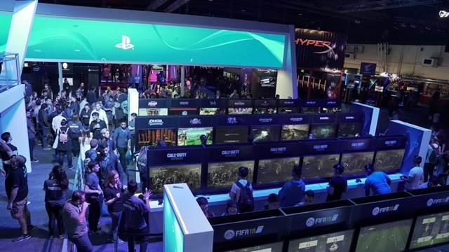 Una vista de uno de los pabellones del Argentina Game Show que se llevó a cabo en el centro de exposiciones Costa Salguero