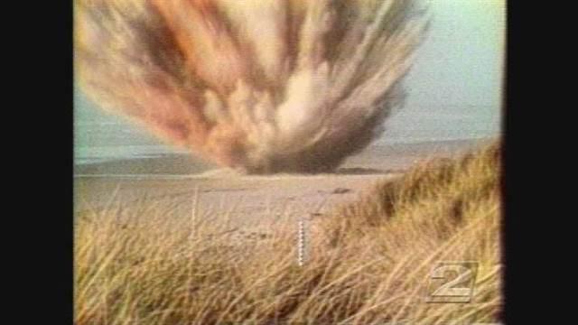 Un ingeniero de caminos coordinó la explosión. Foto: The Exploding Whale/YouTube