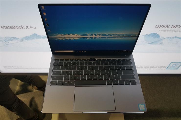 Huawei dice que la Matebook X Pro tiene el touchpad más grande de su clase; el botón de encendido incorpora un sensor biométrico
