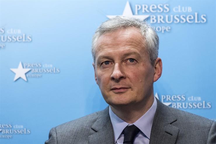 Bruno Le Maire, ministro de Economía y Finanzas de Francia, durante el anuncio