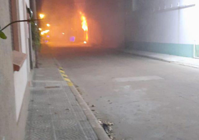 Incendio carcaraña al 600